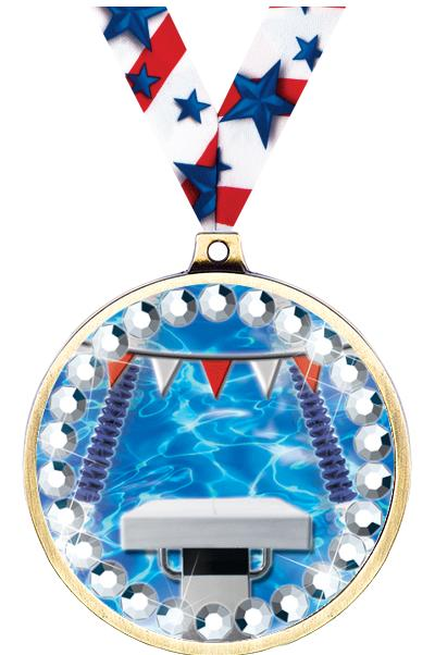 "2 1/4"" Music Blingster Medal"