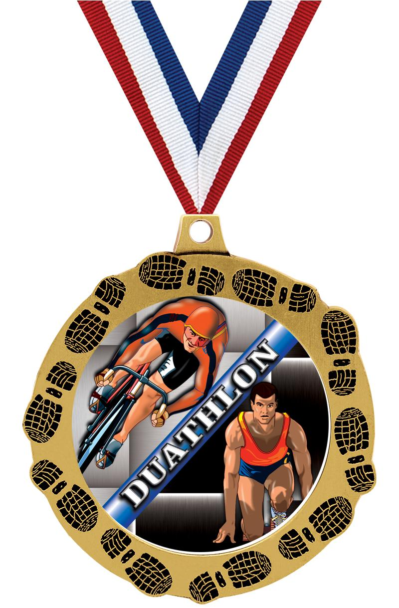 "2.75"" FOOTPRINTZ MEDAL GOLD"