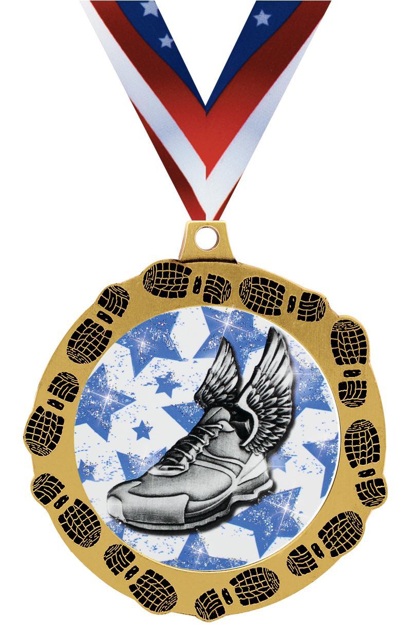 "2 3/4"" FootPrintz Medal"