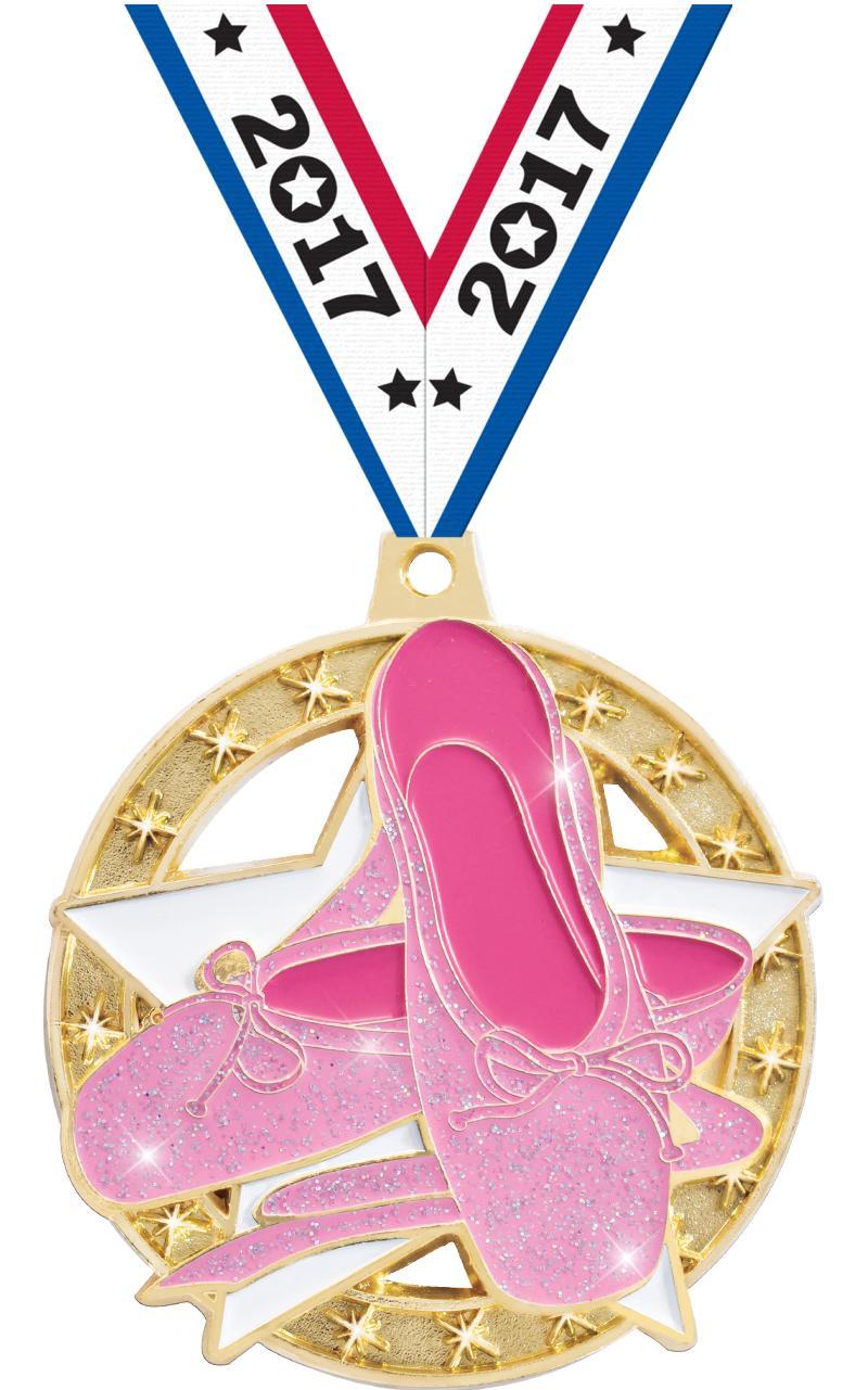 """2"""" Glitter Ballet Medal"""