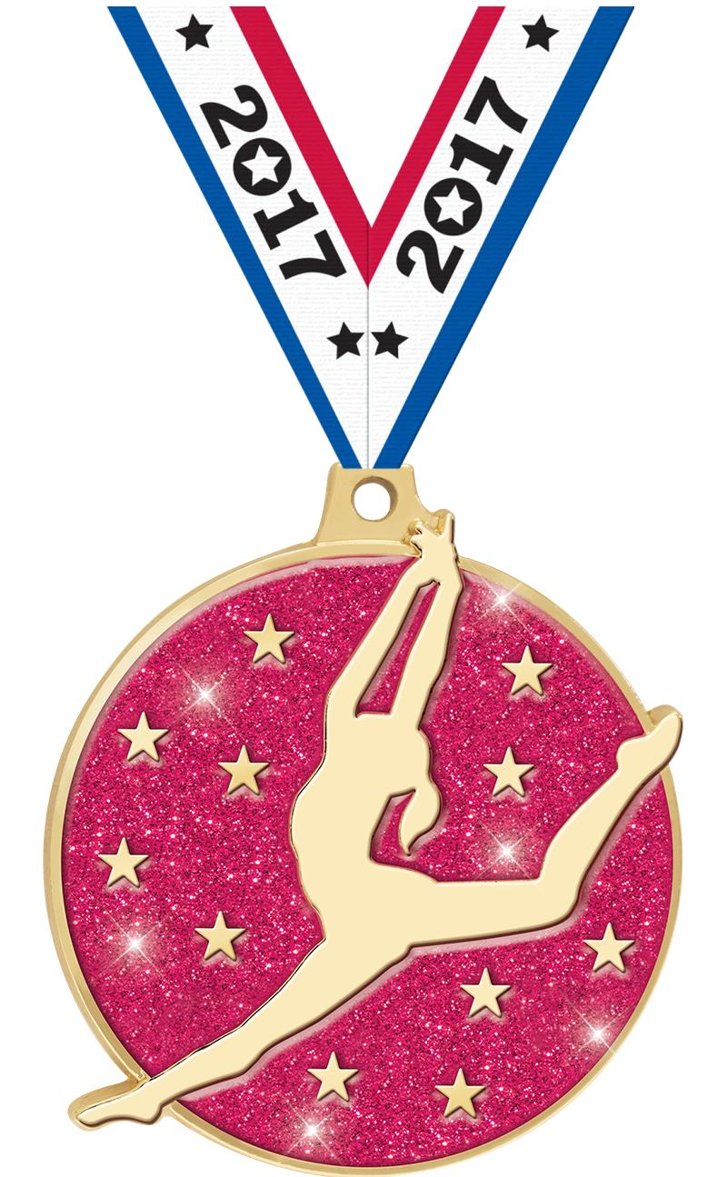 """2"""" Glitter Dance Medal"""