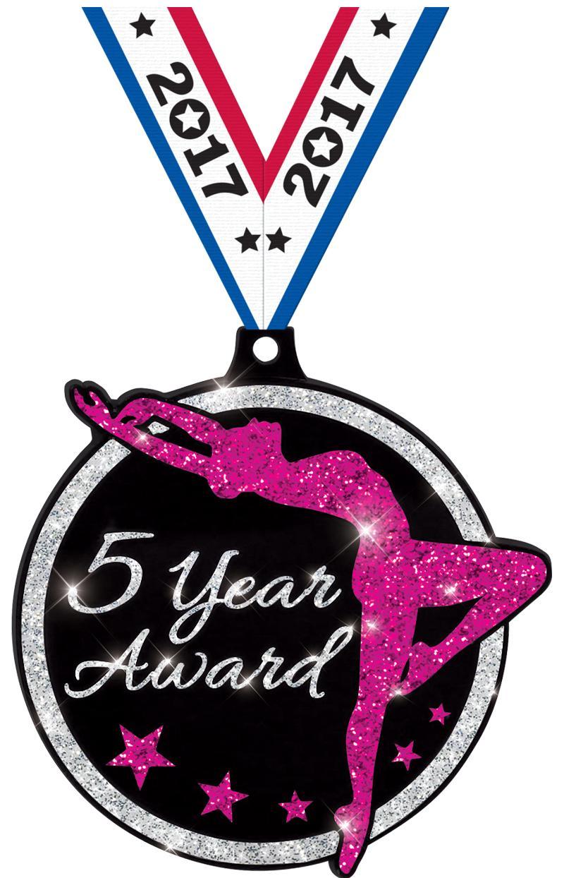 Dance Glitter 5 Year Medal