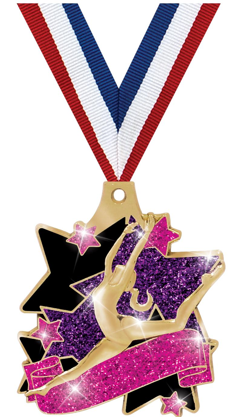 "2"" PEACE LOVE DANCE MEDAL GD"