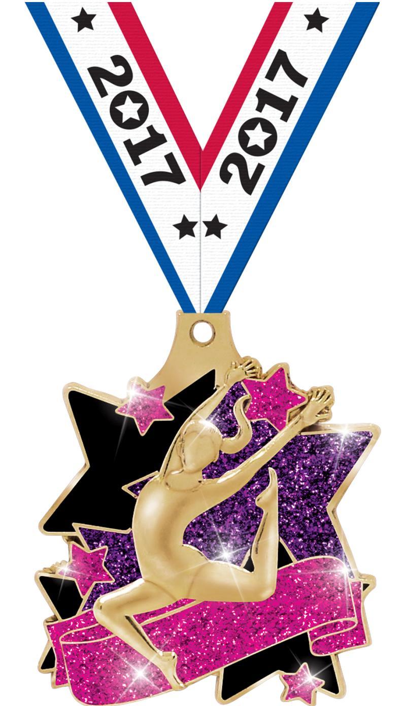 "2"" Spectacular Gymnastics Medal"