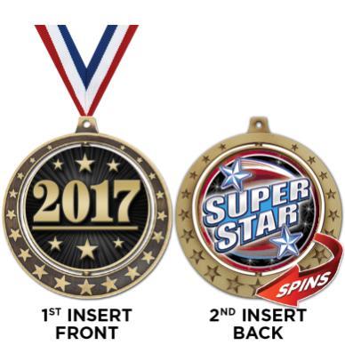 """2 3/4"""" Starburst Spin Insert Medals"""
