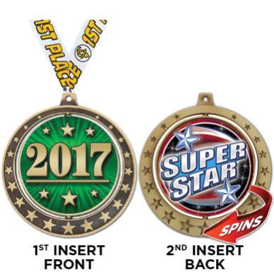 "2 3/4""STARBURST SPIN INSERT MD"