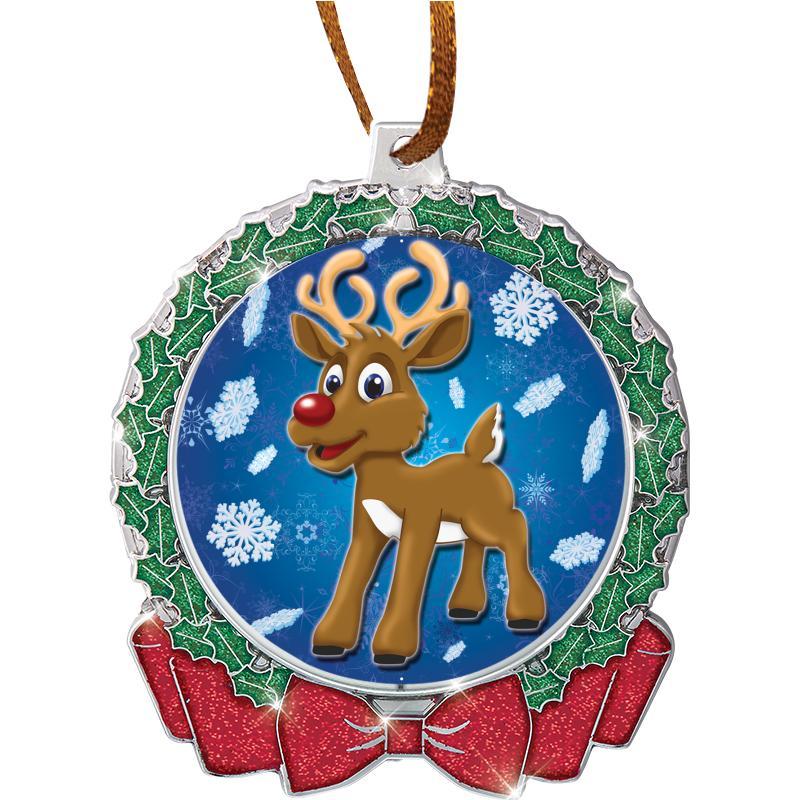 "2 3/4"" Glitter Wreath Insert Ornament"