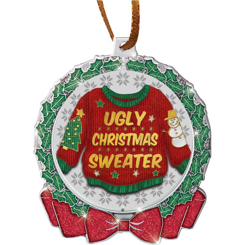 Holiday Ornaments 2 34 Glitter Wreath Insert Ornament
