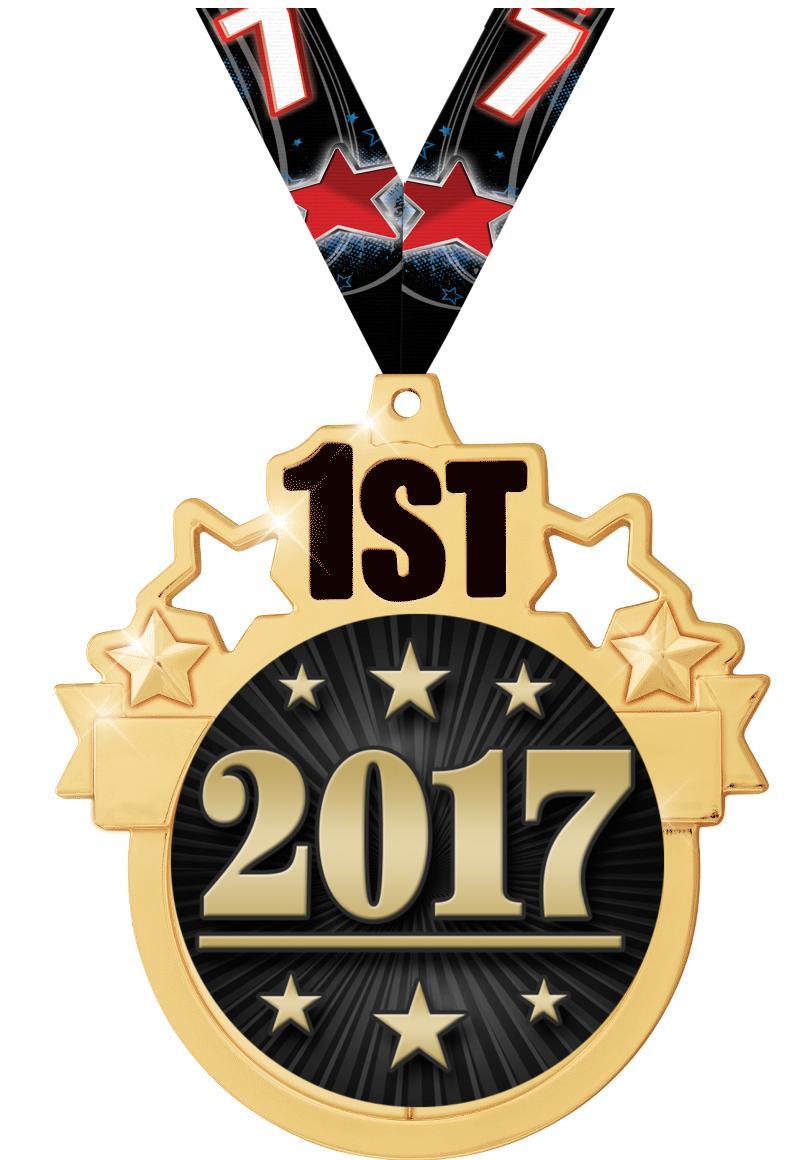 "3"" 1st Place Colorburst Medal"