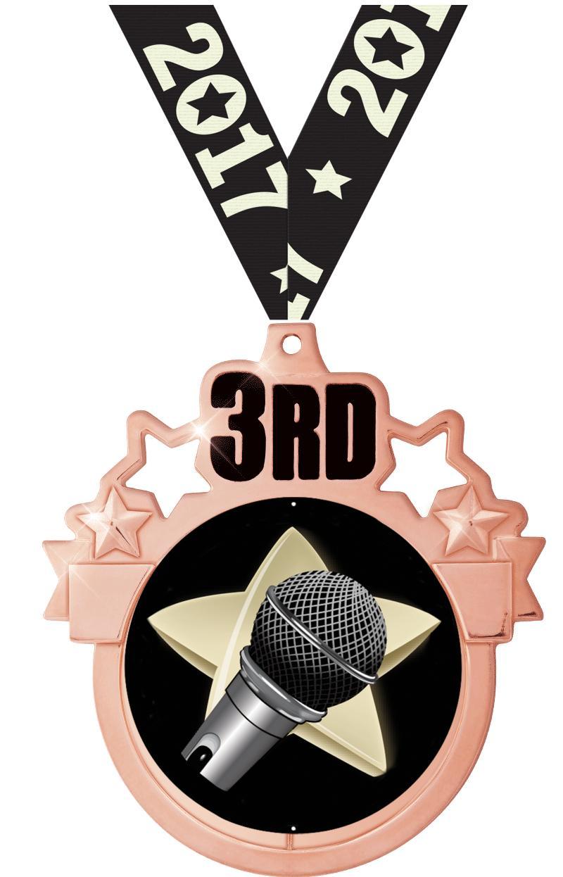 "3""COLORBURST 3RD PLACE MDL BZ"
