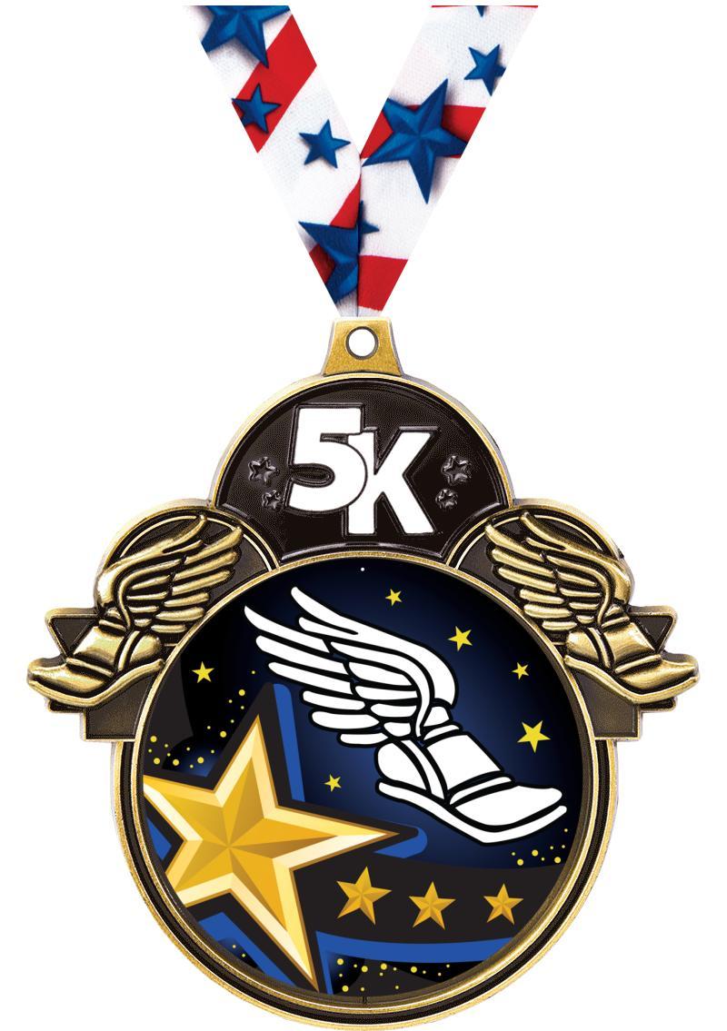 """3"""" 5K Colorburst Medals"""