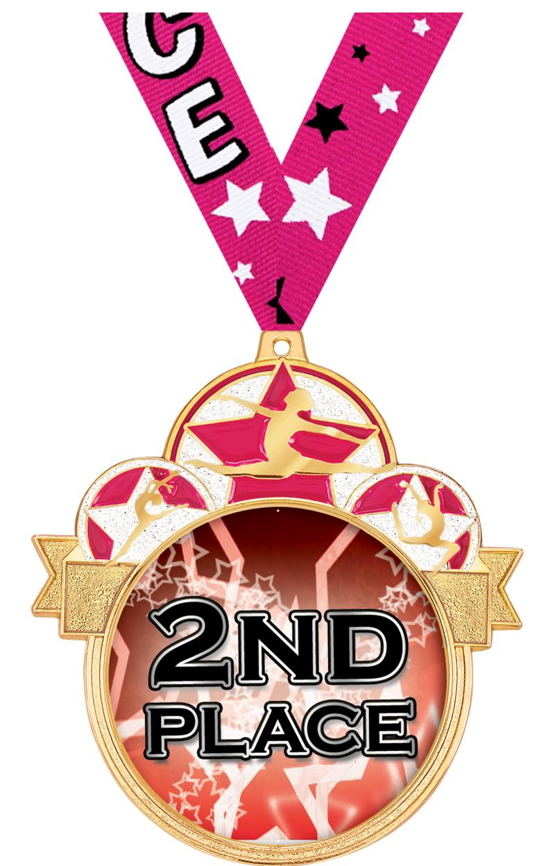 "3"" Dance Colorburst Medals"