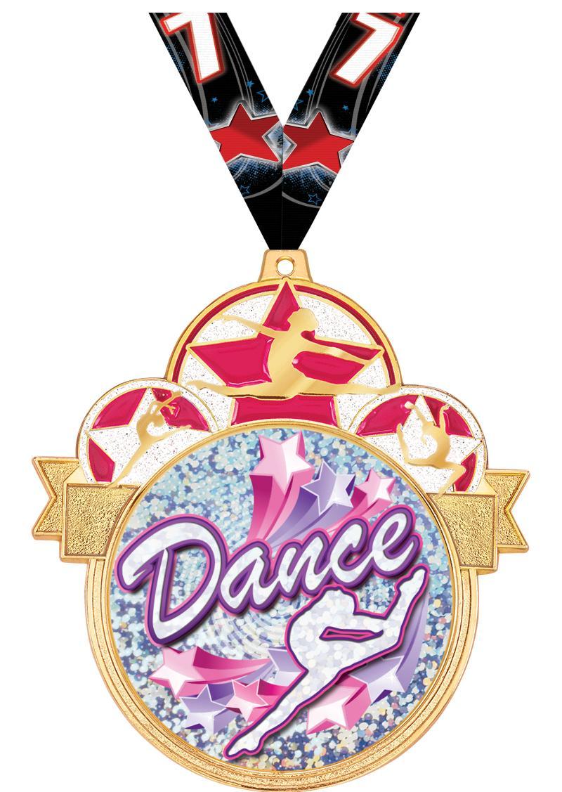 """3"""" Dance Colorburst Medals"""