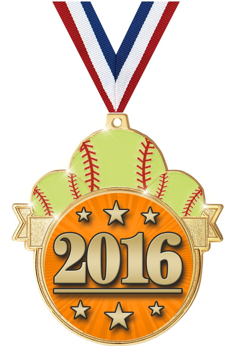 """3"""" Softball Colorburst Medals"""