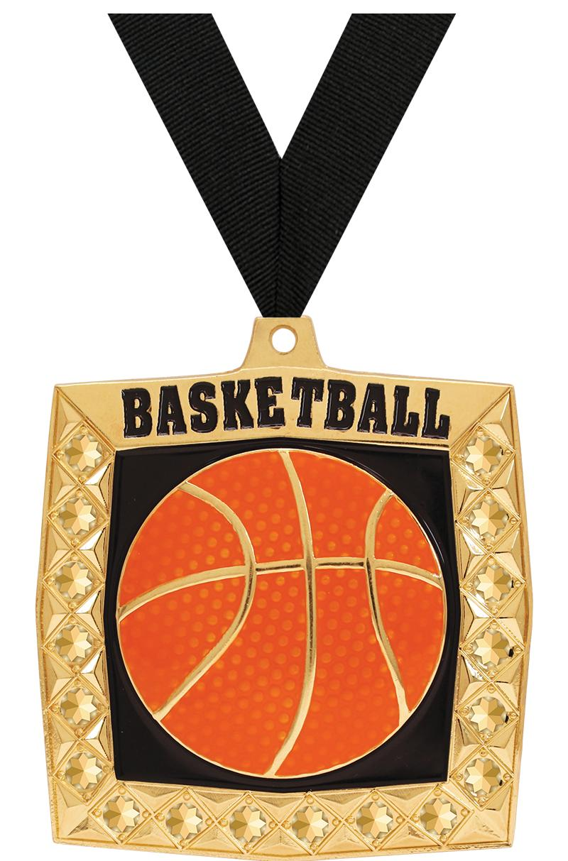 "2 1/4"" Basketball Bling 4.0 Medals"