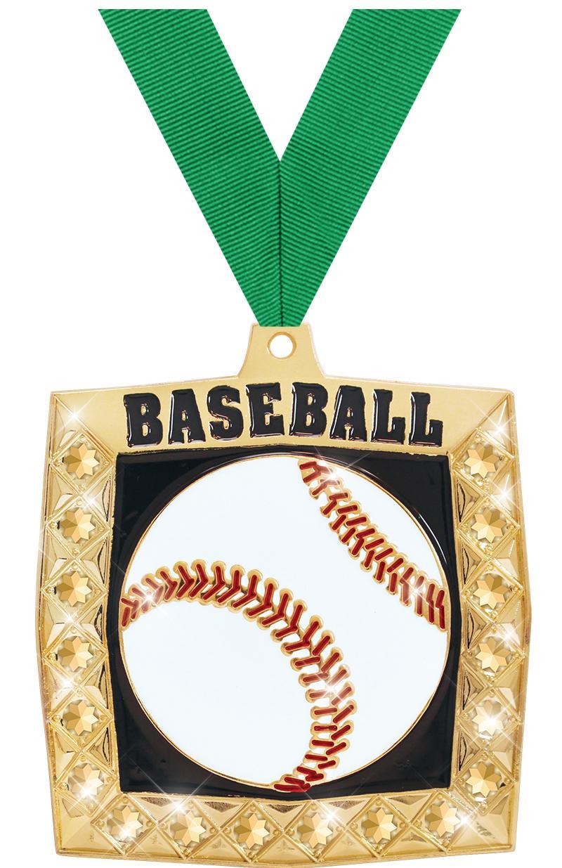 """2 1/4"""" Baseball Bling 4.0 Medals"""
