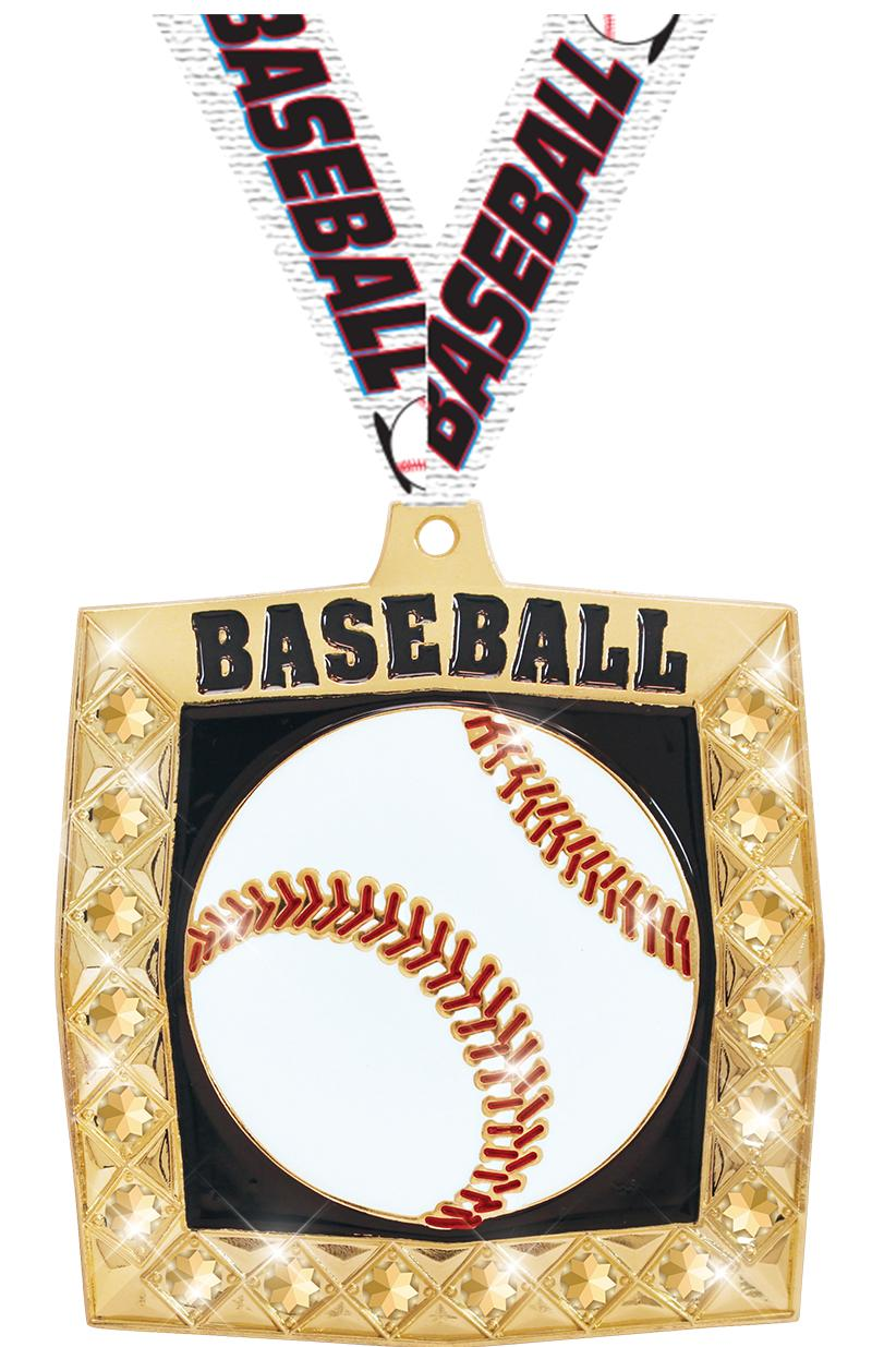 "2 1/4"" Baseball Bling 4.0 Medals"