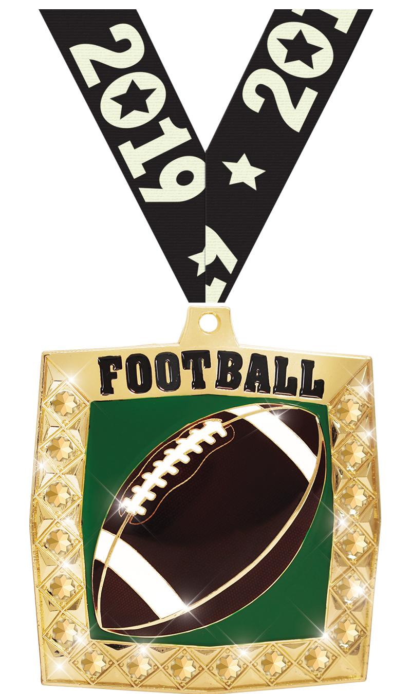 "2.25"" BLING 4.0 FOOTBALL GLD"