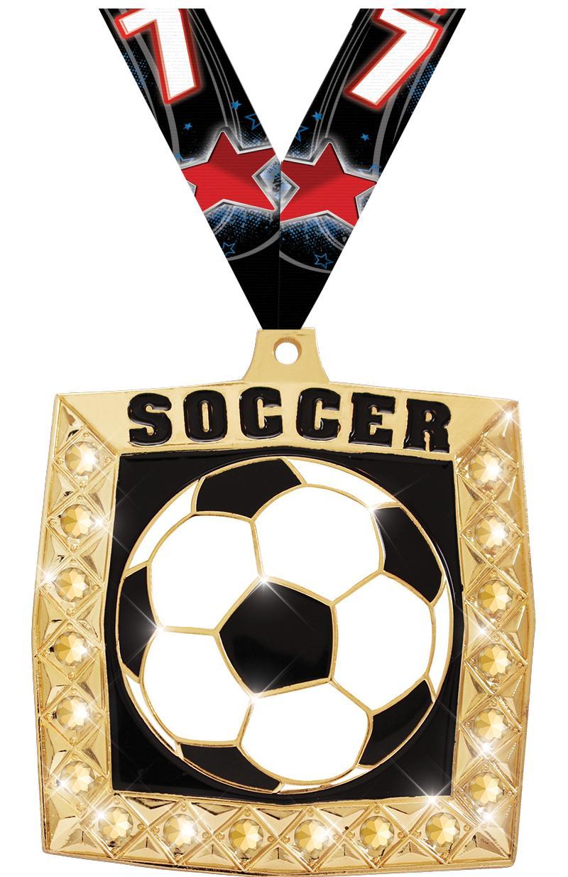 """2 1/4"""" Soccer Bling 4.0 Medals"""