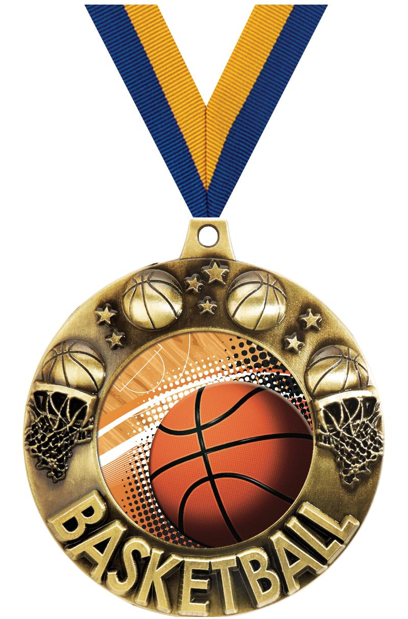 """2 1/4"""" Basketball Majestic Medals"""