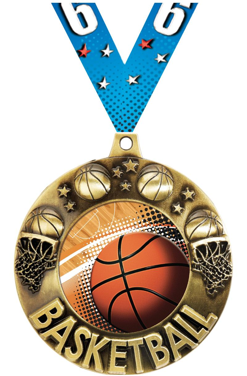 "2 1/4""MAJESTIC BASKETBALL GLD"