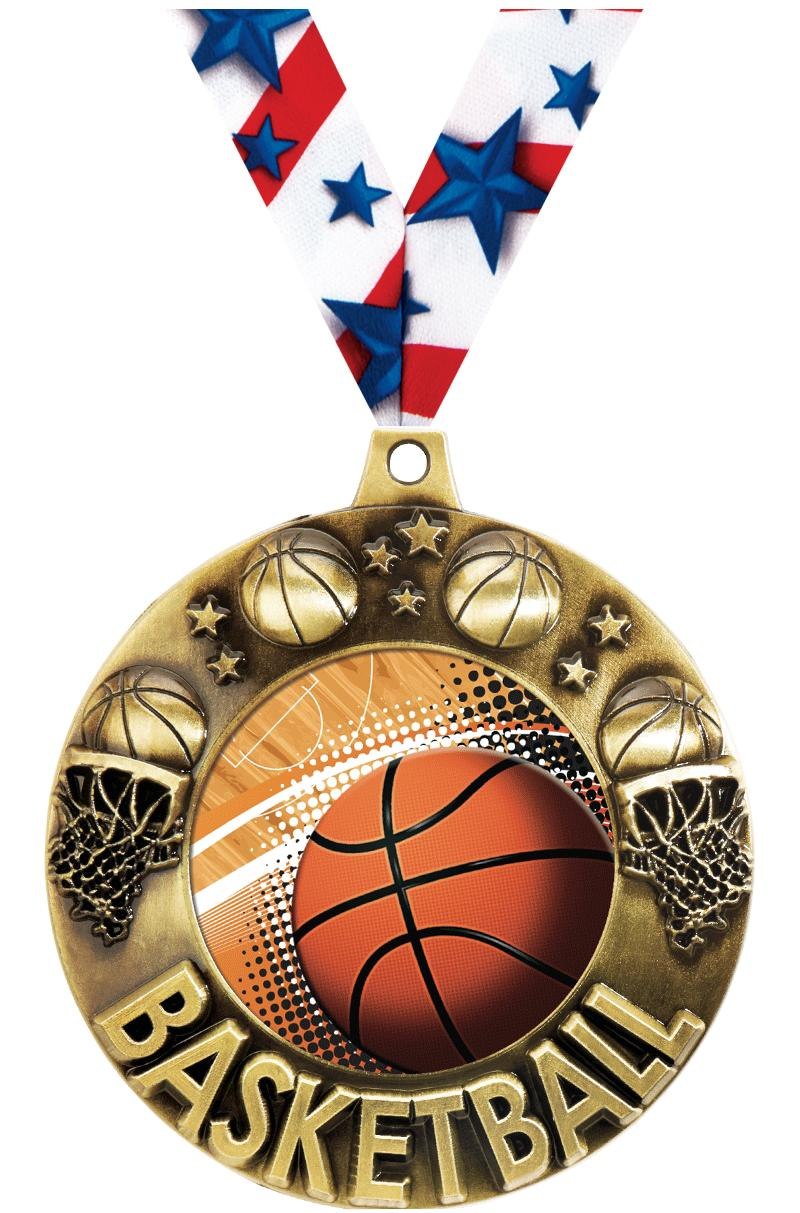 "2 1/4"" Basketball Majestic Medals"