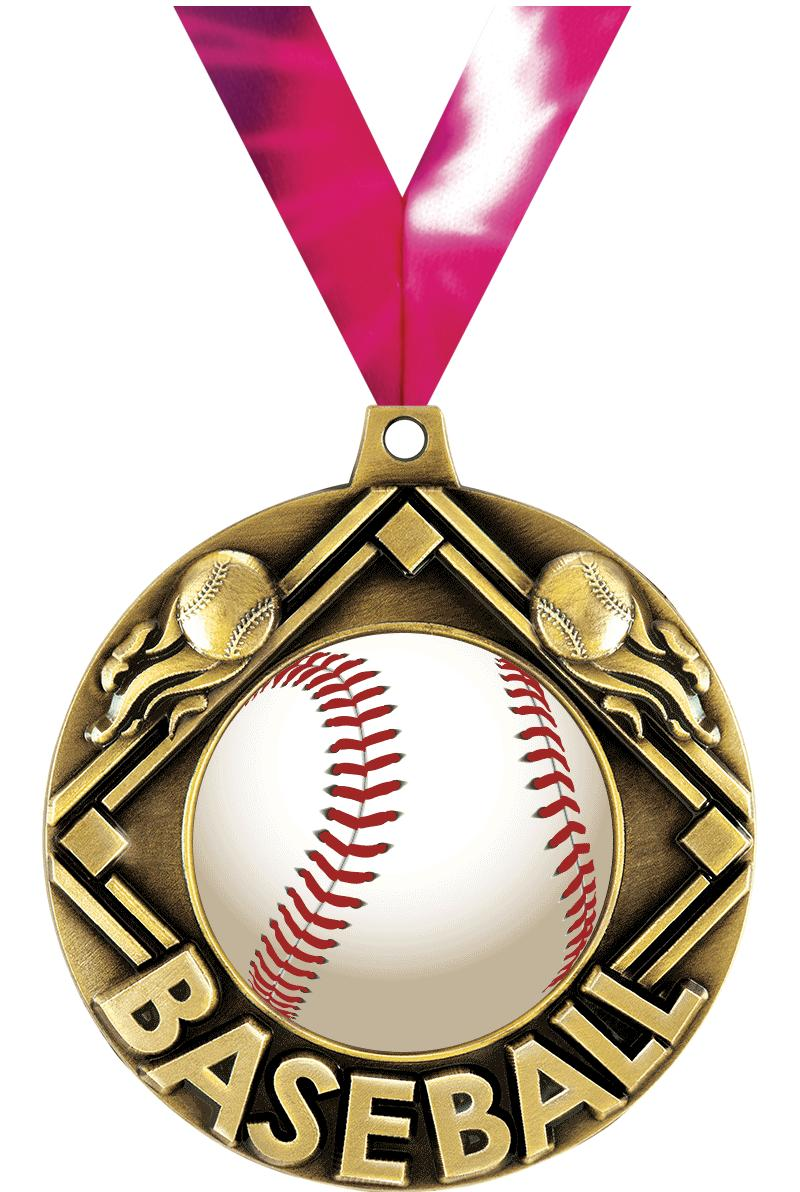 "2.25"" MAJESTIC BASEBALL GLD MD"