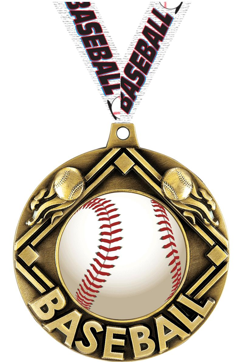 "2 1/4"" Baseball Majestic Medals"
