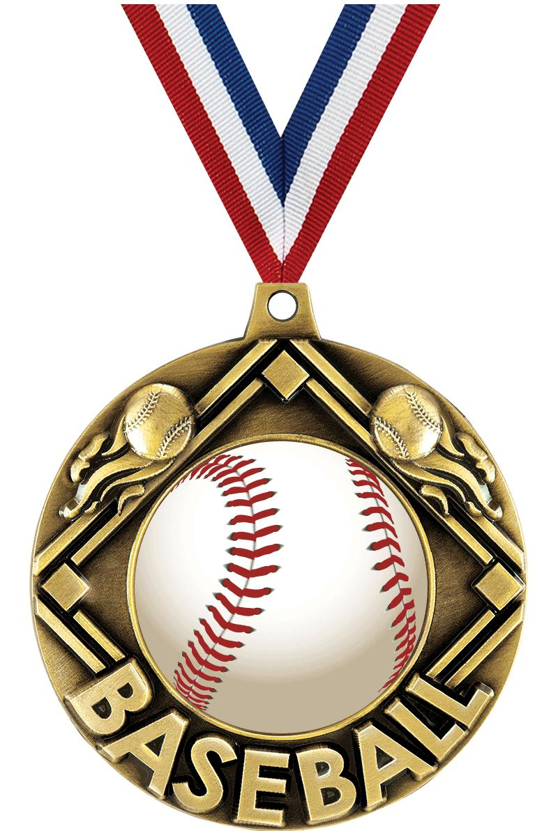 """2 1/4"""" Baseball Majestic Medals"""
