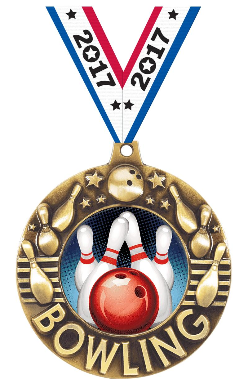 """2 1/4"""" Bowling Majestic Medals"""