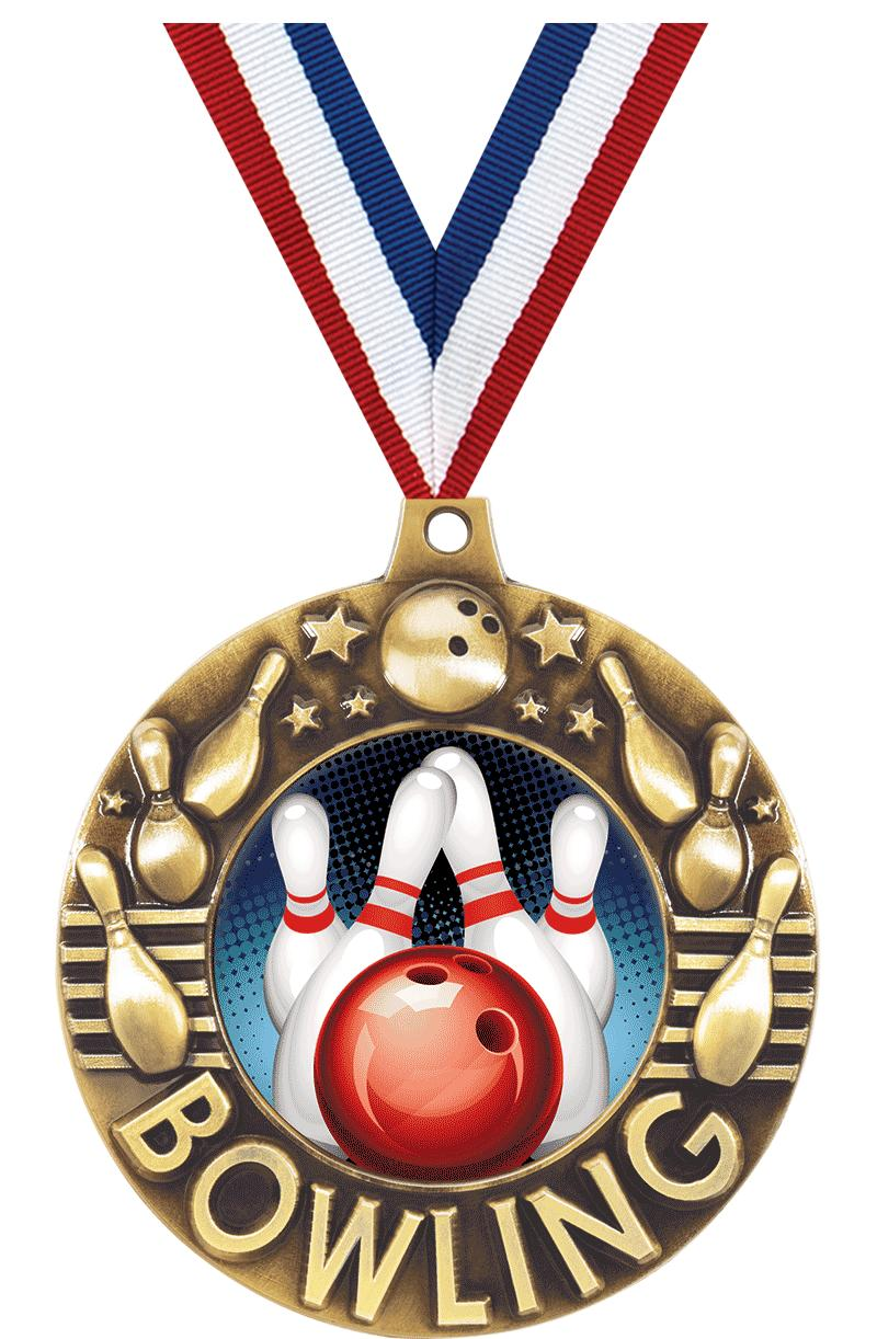 "2 1/4"" Bowling Majestic Medals"