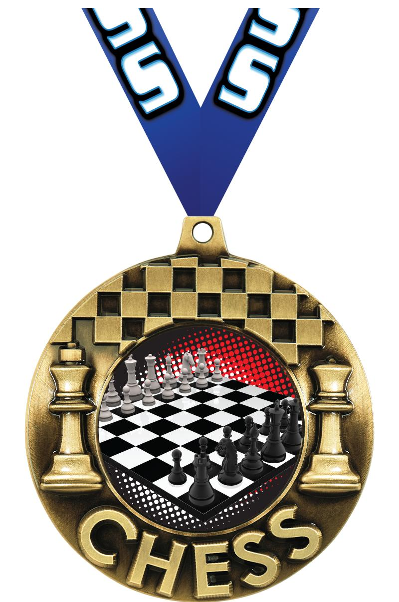 "2 1/4"" Chess Majestic Medals"