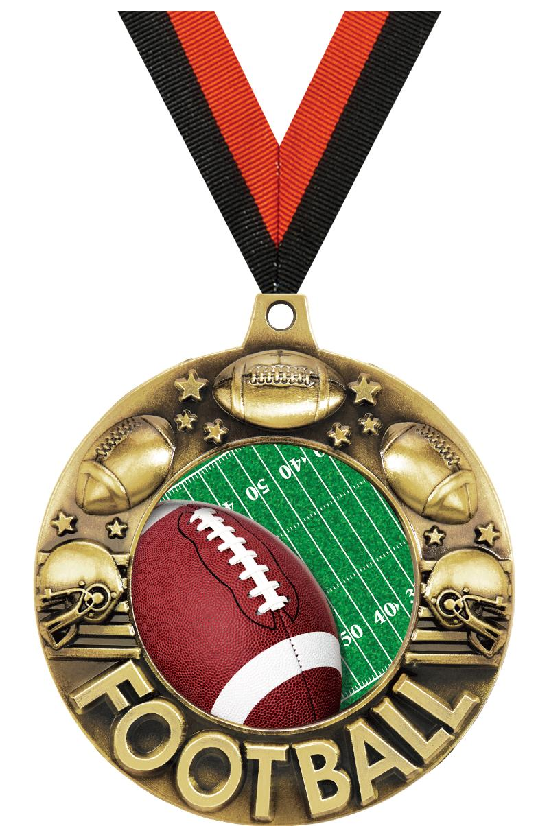"2 1/4"" Football Majestic Medals"