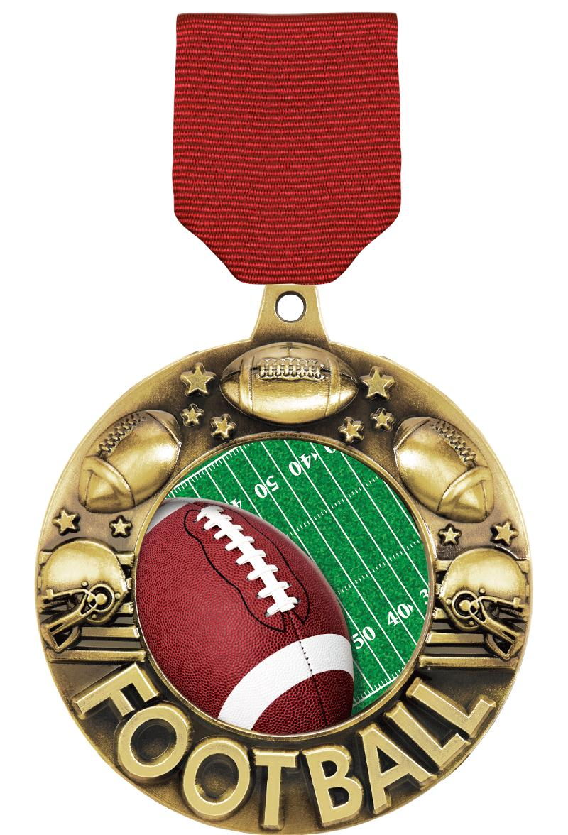 """2 1/4"""" Football Majestic Medals"""