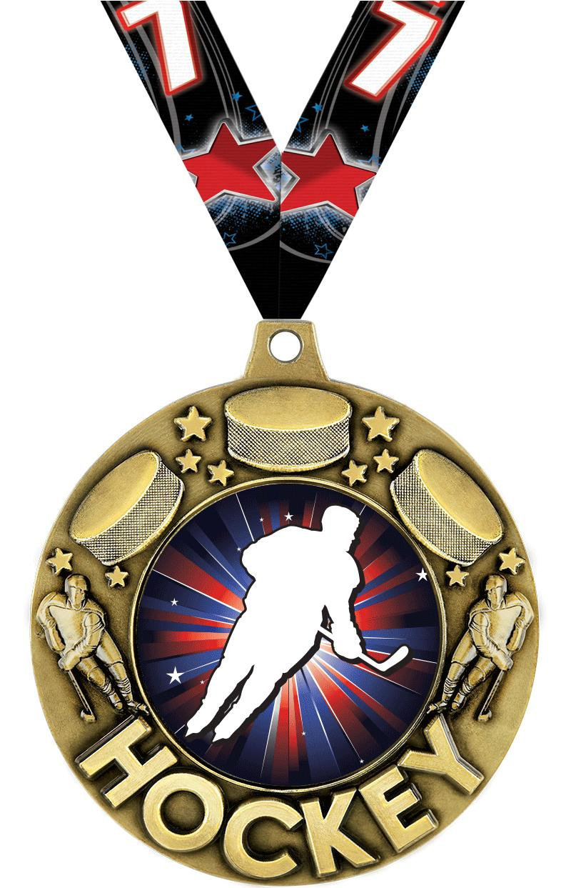 "2 1/4"" Hockey Majestic Medals"