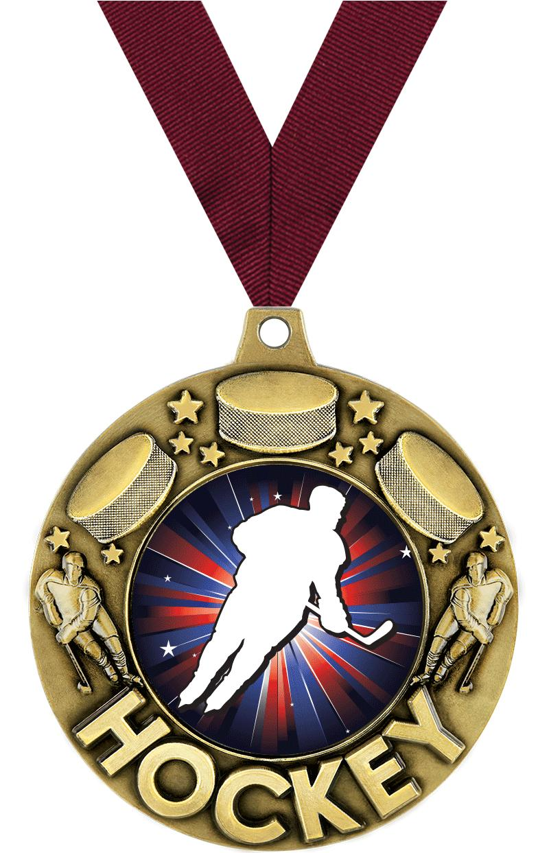 """2 1/4"""" Hockey Majestic Medals"""