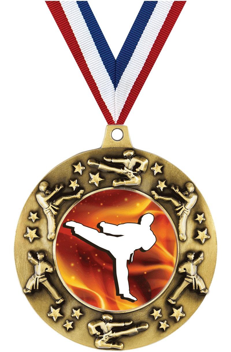 "2 1/4"" Martial Arts Majestic Medals"