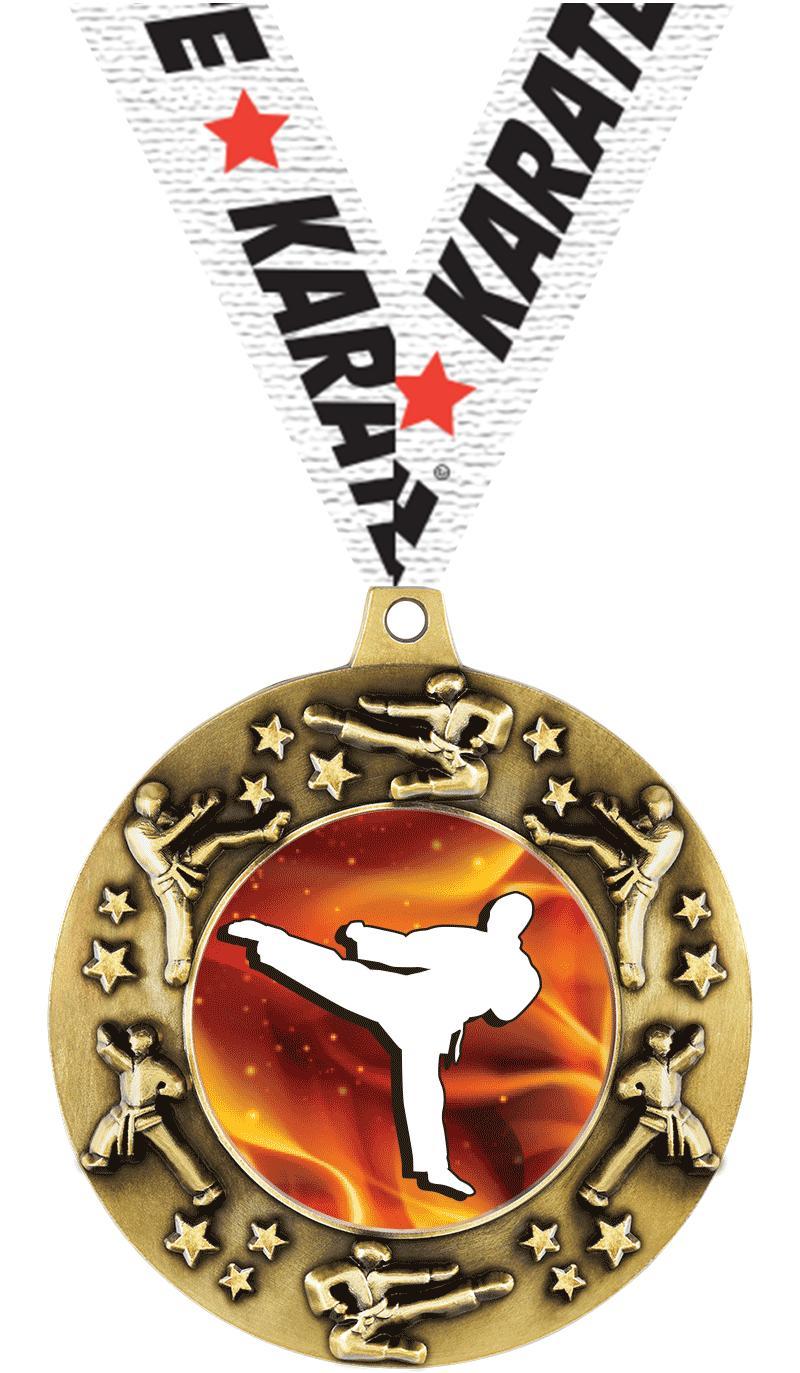 """2 1/4"""" Martial Arts Majestic Medals"""