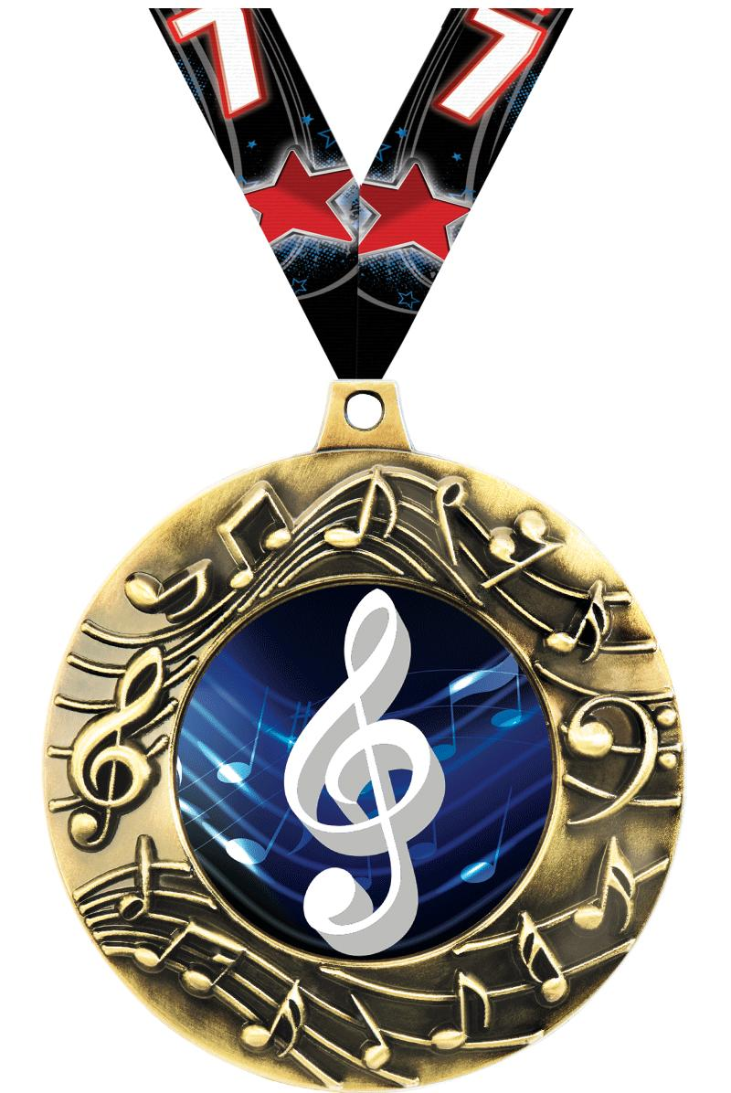 "2 1/4"" Music Majestic Medals"