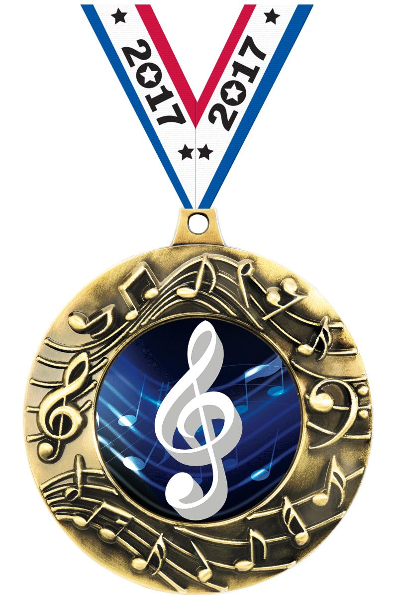 """2 1/4"""" Music Majestic Medals"""