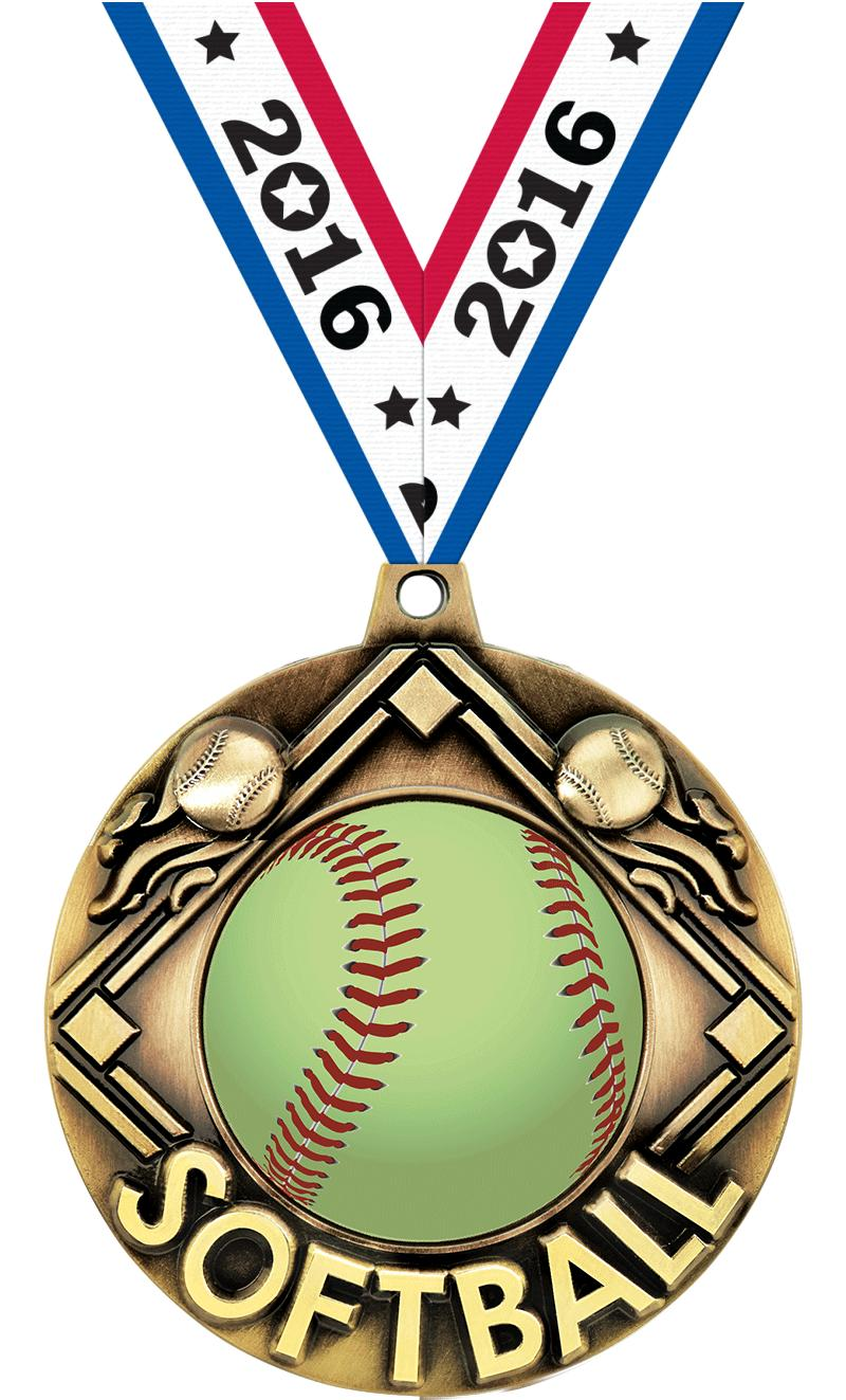 "2 1/4"" Softball Majestic Medals"