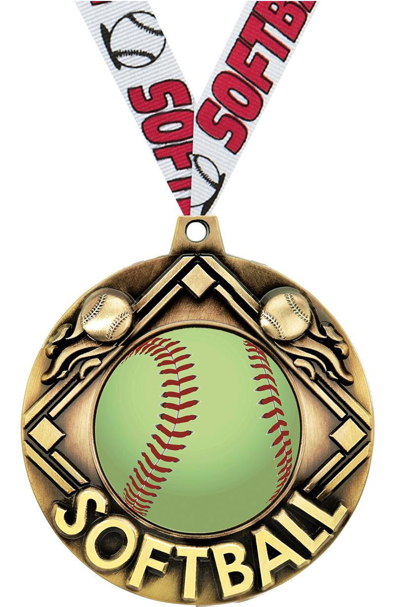 """2 1/4"""" Softball Majestic Medals"""