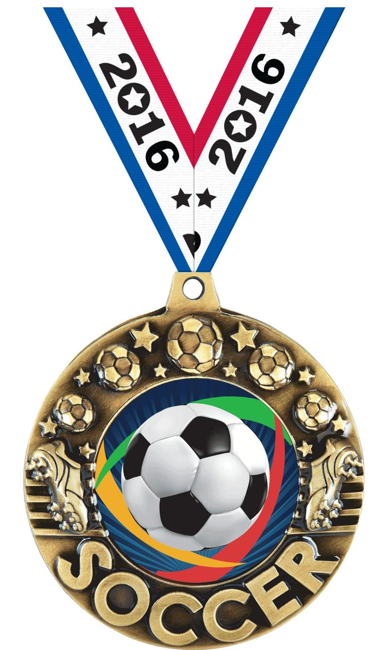 """2 1/4"""" Soccer Majestic Medals"""