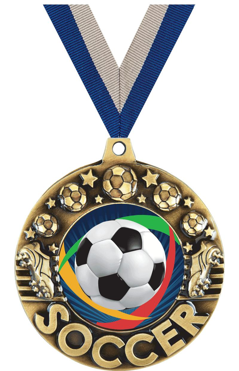 "2 1/4"" Soccer Majestic Medals"