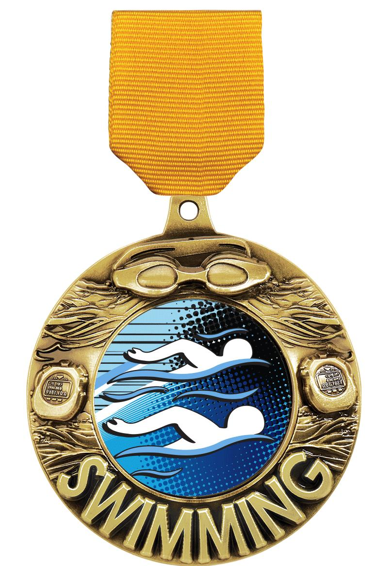 """2 1/4"""" Swimming Majestic Medals"""