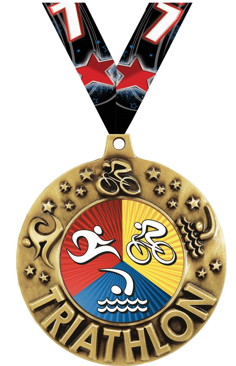 "2 1/4"" Triathlon Majestic Medals"