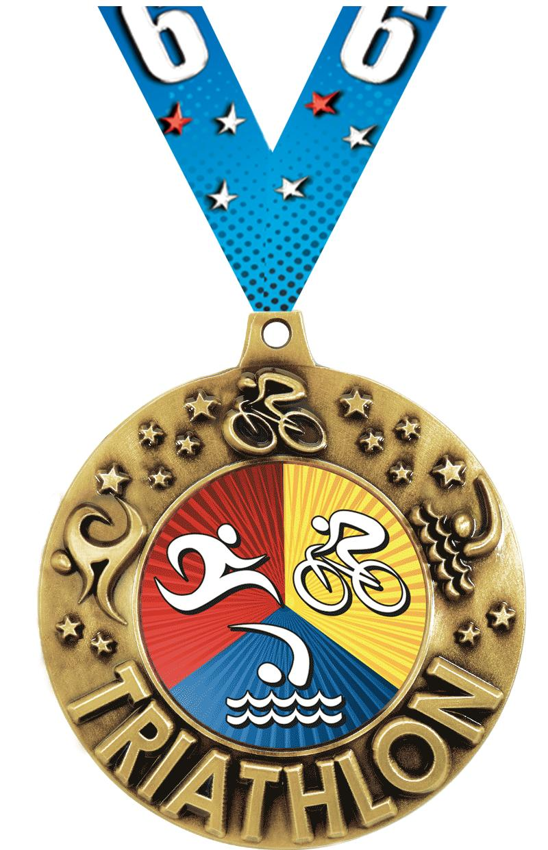 """2 1/4"""" Triathlon Majestic Medals"""