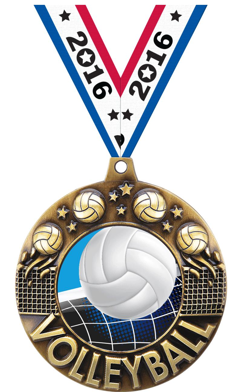 """2 1/4"""" Volleyball Majestic Medals"""