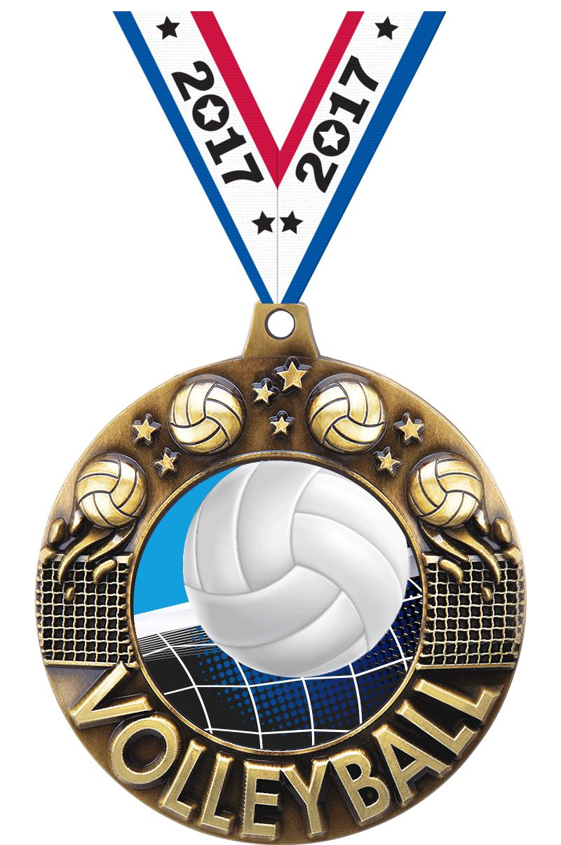 "2 1/4"" Volleyball Majestic Medals"