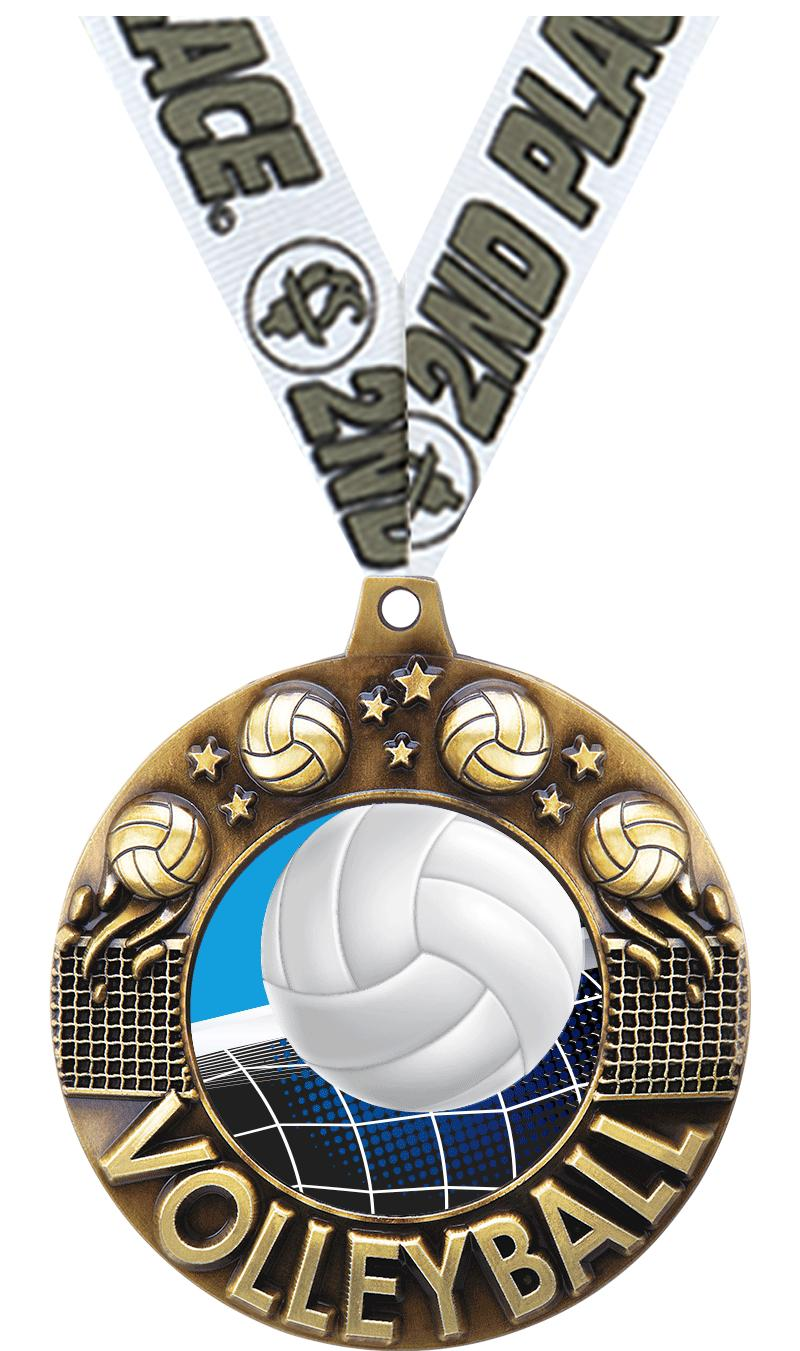 "2 1/4"" MAJESTIC VOLLEYBALL GLD"